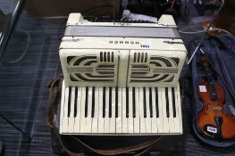 Hohner Verdi II piano accordion with protective case