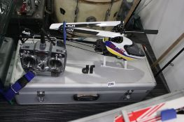 FG 400A Trex Pro RC helicopter with spectrum controller, charger and case