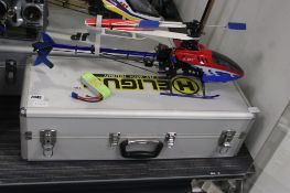 E Sky RC helicopter with battery and carry case