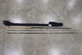 Hardy graphite salmon fly rod 15ft 4 inch in 3 pieces with soft cover