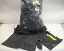 Bag of approx 25 grey Champion sports shorts mainly size S
