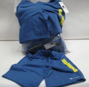 Bag containing approx 20 Champion sports shorts in light blue size mainly