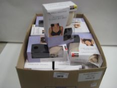 Box containing approx 23 boxed twin pack bras by Carole Hochman seamless comfort bras various