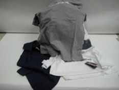 Bag containing approx 28 Bergenhaus t shirts in blue, grey and white various sizes