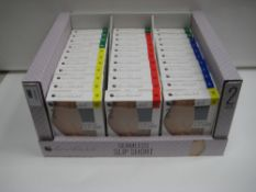 Box containing a qty of seamless slip shorts by Loreal Vanderbilt sizes S to XL