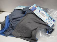 Bag containing approx 15 triple pack children's t shirts by 32 degree cool in grey and light blue