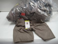 Bag containing approx 25 Jacks New York sports shorts in light brown