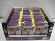 Box containing approx 24 twin pack seamless wire free bras by Claudia Vanderbilt