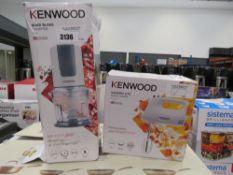 Kenwood quad blade chopper plus a Kenwood hand mix