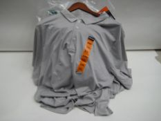 Bag containing approx 18 Kirkland grey polo shirts sizes XL and XXL