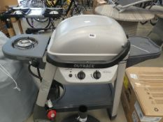 Excel 2 burner gas barbecue on trolley