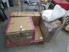4 boxes of assorted flatpack garden furniture