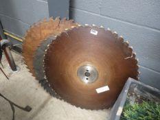 3 large wood saw blades