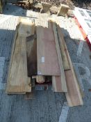 Pallet of assorted waney edge and board timbers