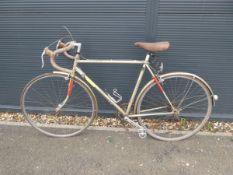 Raleigh vintage racing bike in brown