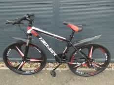 Lauxjack mountain bike in red and black