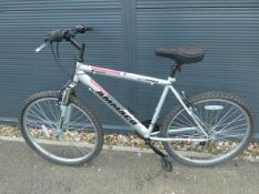 Ammaco mountain bike in silver and red
