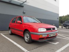 M270 MHV Volkswagen Golf GL TDI, 5 door hatchback in red, 1896cc, first registered 08/03/1995, V5