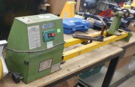 4386 Warco wood working lathe