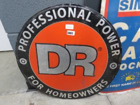 Enameled circular sign for Professional Power