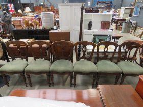 Set of 6 Edwardian satinwood dining chairs