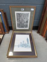 Three London etchings and prints