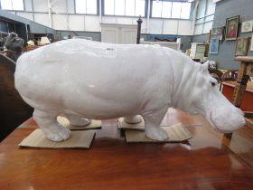 Italian ceramic figure of a hippo