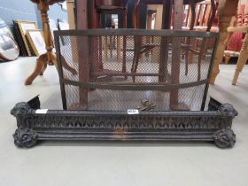 Cast iron fire curb and guard