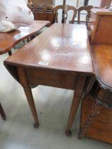 18th century style oak gateleg dining table