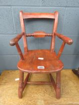 Miniature elm seated child's chair