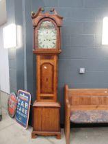 5003 18th century oak long case clock