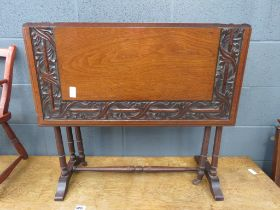 Carved mahogany Sutherland table