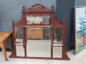 Mahogany over mantel mirror