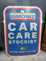 Rectangle enameled sign for Car Care Sockets