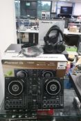 Pioneer DJ Unit Pack together with DDJ200 mixer and Cue 1 bluetooth headphones