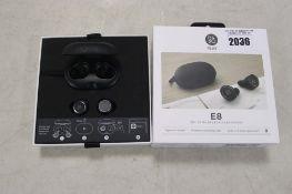 Bang & Olufsen E8 True Wireless earphones in box
