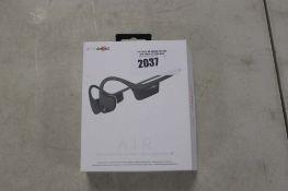 Aftershokz Air wireless bone conduction headphones in box