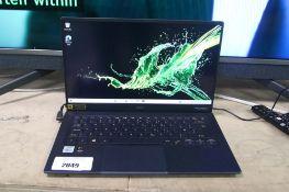 Acer Swift 5 laptop, intel i7 10th gen processor, 16gb ram, 512gb storage, Windows 10 installed,