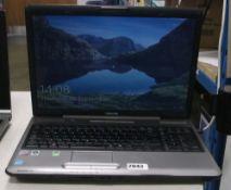 Toshiba Satellite P300 laptop, intel core 2 duo processor, 2gb ram, 150gb storage, includes psu