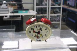 Disney Avronel Made in Germany Mickey Mouse windup alarm clock