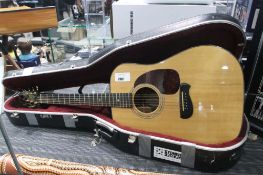 Tacoma 6 string acoustic guitar with hard carry case
