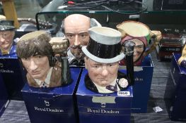 4 various Royal Doulton character jugs to include The Celebrity Collection version of W.C.Fields and