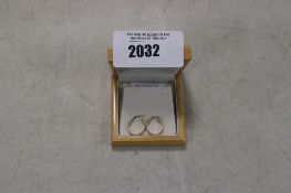 Pair of 585 14kt hallmarked hooped earrings with case