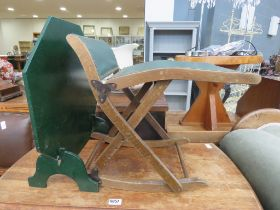 Gout stool and fire screen