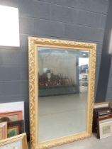 Large gilt foliate mirror