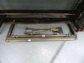 Brass fender and companion set