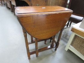 Oak gate leg table