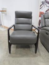 Gilman Creek grey leather push back reclining chair
