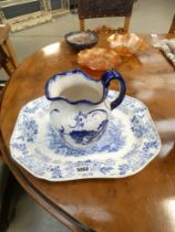 Iron Stones jug and Victorian meat dish