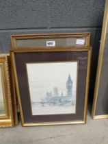 5018 3 prints and etchings of London scenes